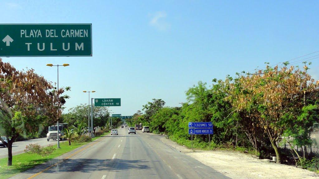 carretera 307 towards playa del carmen