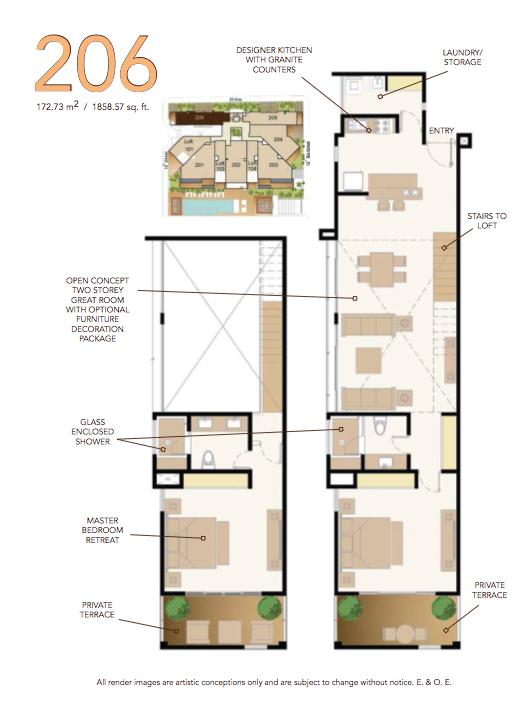 Floor Plan for Oasis 12 Luxury Loft Style Rental Home